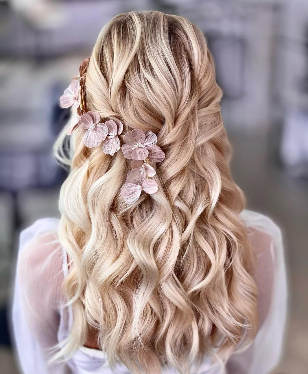 bridal hairstyling